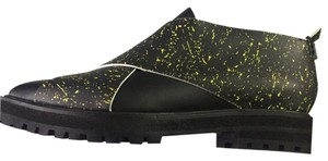 Proenza Schouler Black and Yellow and Black Speckle Boots