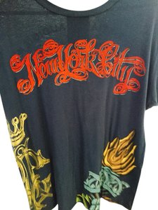 Christian Audigier T Shirt Blue,red