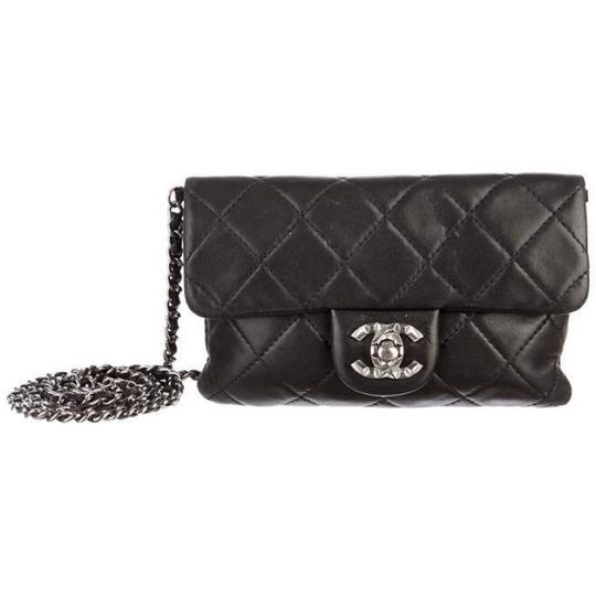 643ecf3322b9b8 Chanel Mineral Nights Mini Flap Classic Quilted Cc Woc Wallet On A Chain  Black Cross Body