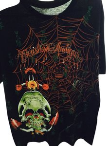 Christian Audigier T Shirt Black,orange,
