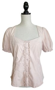 Anthropologie Top Pink Baby Cord