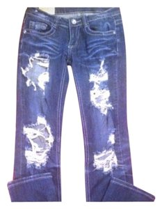 Machine Boot Cut Jeans-Distressed