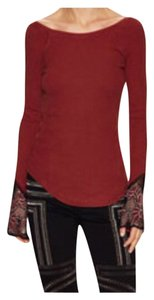 Free People Top Maroon