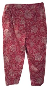 Geoffrey Beene Floral Summer Pant Capris red/white