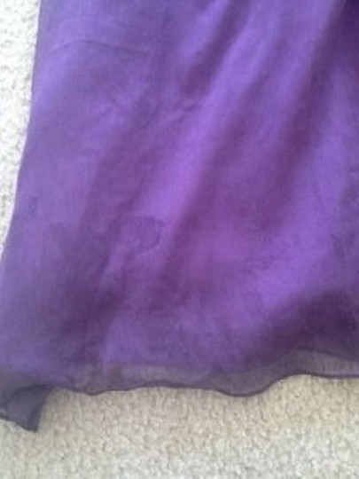 Love Lane Purple (Plum) Chiffon Tori Long Modern Bridesmaid/Mob Dress Size 6 (S)