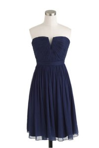 J.Crew Dark Cove (navy) Nadia Dress In Silk Chiffon Dress