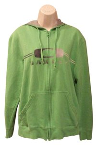 Oakley Lightweight Bright Colored Hooded Green Jacket