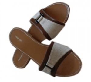 Lands End brown and tan Sandals