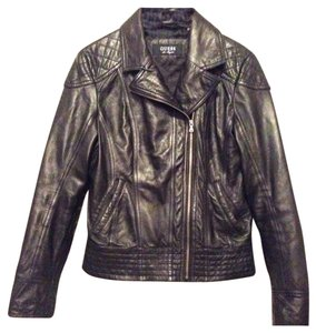 Guess Leather Chic Black Jacket