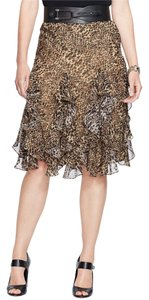 Ralph Lauren Animal Print Skirt Black/Brown