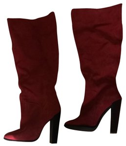 Colin Stuart Boot Knee High Round Toe Red Boots