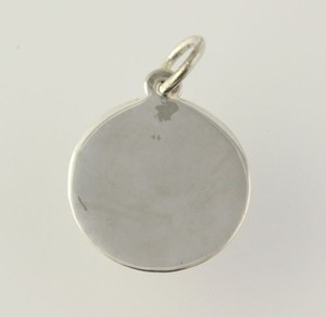 Round Engravable Charm - Sterling Silver 925 Womens Polished Monogram