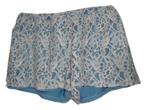 Jack by BB Dakota Lace Dress Shorts Blue/white lace