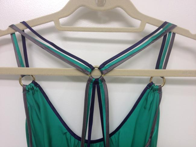 French Connection Top green, blue, emerald, navy