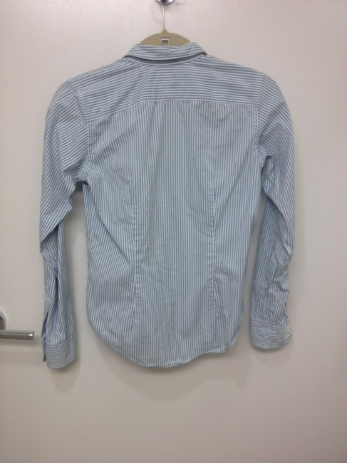 Ralph Lauren Shirt Cotton Comfortable Stripes Button Down Shirt blue and white
