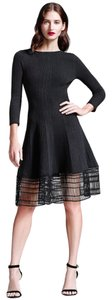 Lela Rose short dress Black Burberry Chanel Victoria Beckham Dvf Issa on Tradesy