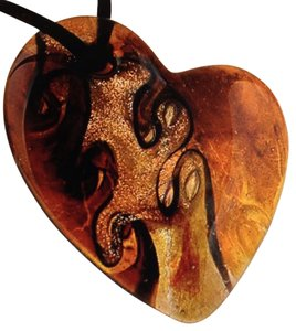 Handmade Heart Murano Glass Pendant On A Rope