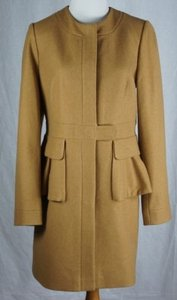 J.Crew Peplum Wool Cashmere Blend Heathered Acorn Coat
