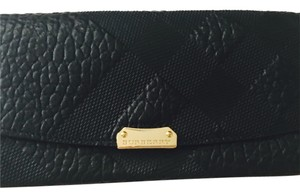 Burberry Burberry Check Porter Black Leather Wallet