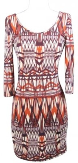 Preload https://item4.tradesy.com/images/hello-miss-multicolor-geo-aztec-print-zipper-back-fitted-above-knee-short-casual-dress-size-6-s-135343-0-0.jpg?width=400&height=650