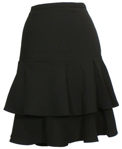 Ralph Lauren Tiered Skirt Black