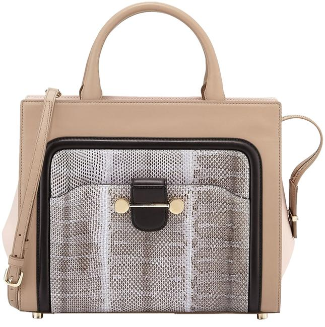 Jason Wu Crossbody Bag New Daphne Birch Watersnake/Calf Leather Tote Jason Wu Crossbody Bag New Daphne Birch Watersnake/Calf Leather Tote Image 1