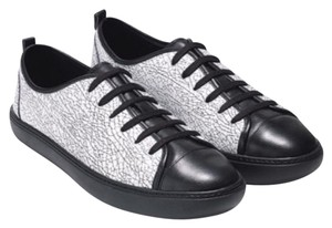 Cole Haan Hendrix Marble Leather Sneaker Black and White Athletic