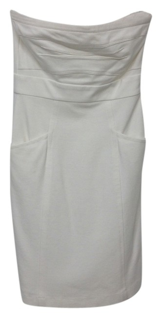 Theory Strapless Pocket Cotton Holiday Party Going Out Christmas Dress