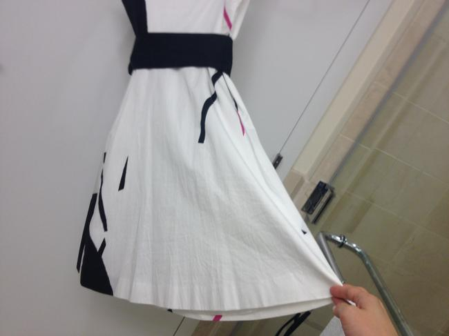 Theory short dress Black white pink A-line on Tradesy