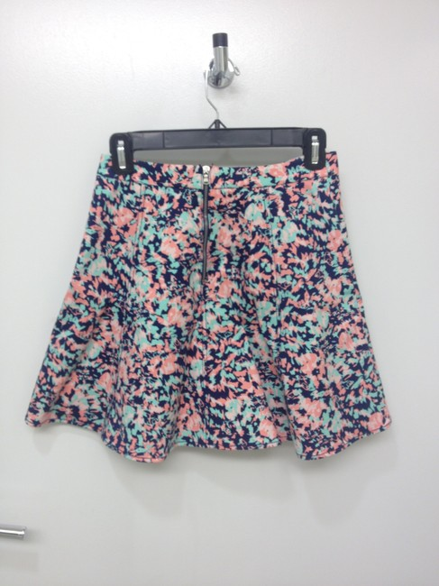 Club Monaco Skirt pink coral green mint navy
