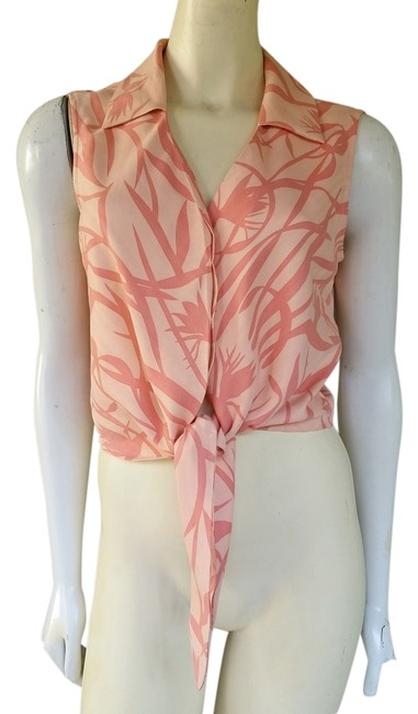 Preload https://item5.tradesy.com/images/tommy-bahama-peach-leave-print-silk-tie-blouse-size-8-m-1353514-0-0.jpg?width=400&height=650