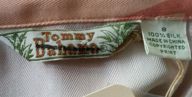 Tommy Bahama Tie Front Tropical Silk Top Peach