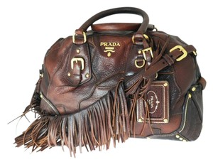 Prada Tote in Cacao Brown w/ Gradient Accent