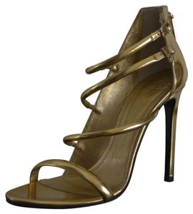 Roberto Cavalli Leather Leather Gold Sandals