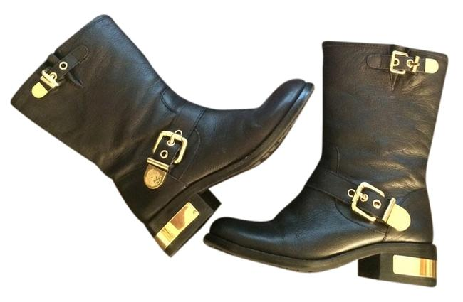 Item - Black with Gold Hardware Winchell Motorcycle Boots/Booties Size US 7 Regular (M, B)