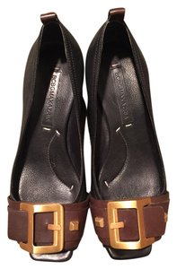 BCBGMAXAZRIA Bcbg Max Azria Black/Brown Wedges