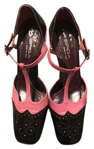 Via Spiga Black/Pink Pumps