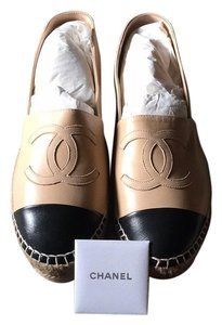 Chanel Espadrilles New Black beige Flats