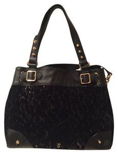 Juicy Couture Daydreamer Velour Tote in Black