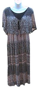 Brown Print Maxi Dress by Other Maxi