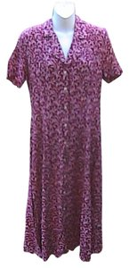 Maroon Print Maxi Dress by KC Spencer Summer