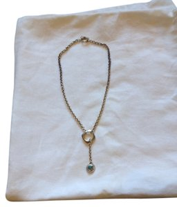 Versani Bezel Set Gemstone Drop Necklace