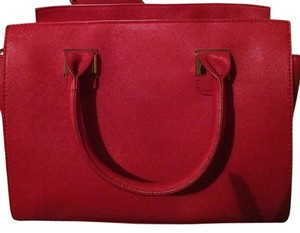 JustFab Canvas Satchel in Red