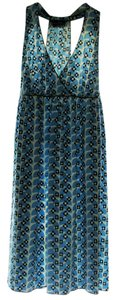 Max Studio short dress Blue Multi-Color Stretchy Empire Waist Daisy Print on Tradesy