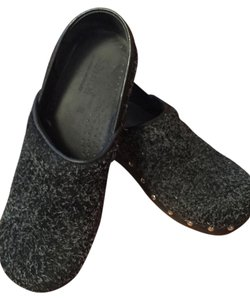 Sanita Comfortable Cute Awesome Grey-black flecked Mules