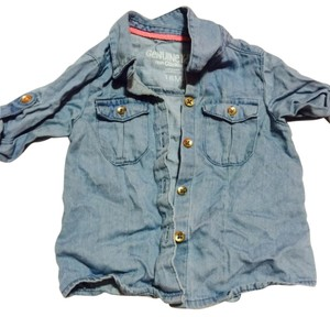 OshKosh B'gosh Button Down Shirt Jean material