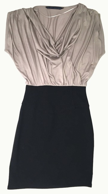 Item - Black and Pale Brown Blouson Short Night Out Dress Size 8 (M)