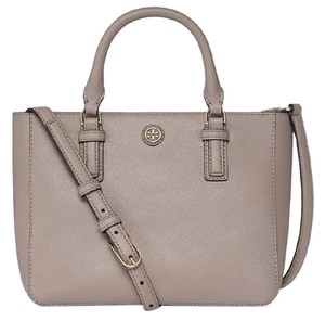 Tory Burch Fashion Satchel in French Gray