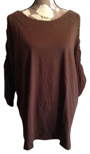 Roaman's Cotton Ruched T-shirt Xl Nwot Tunic