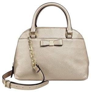 Target Zip Top Crossbody Faux Leather Kate Spade Satchel in Gold